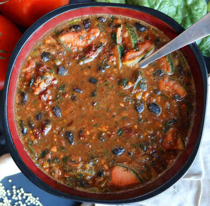Black Bean Chunky Tomato Soup