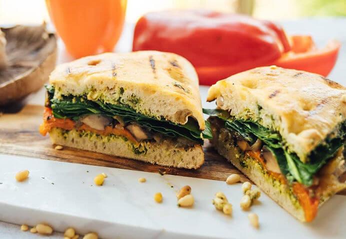 Pesto Panini Sandwich