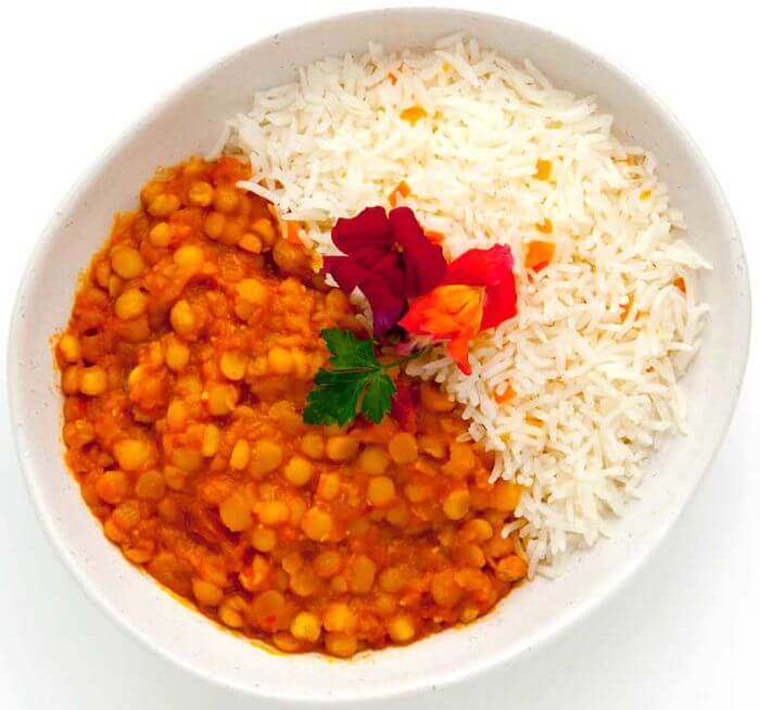 Yellow Lentil Dahl with Rice