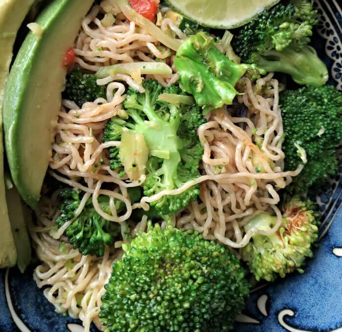 Thai Basil Lemon Grass Stir Fry with Konjac Noodles