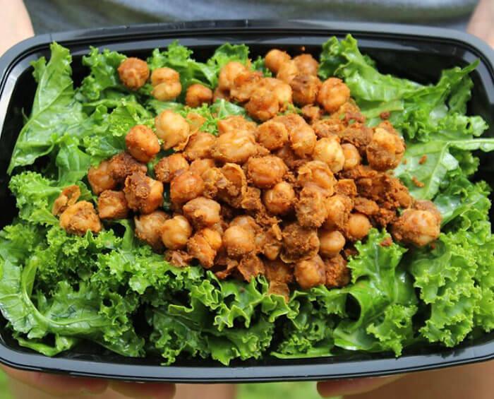 Tandoori Chickpea Kale Salad
