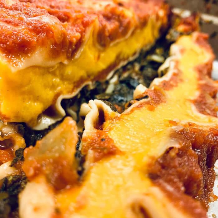 Spinach Pumpkin Lasagne