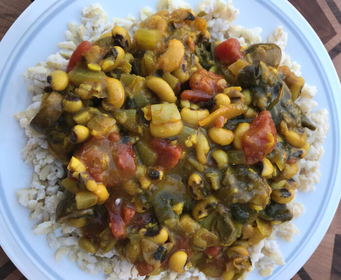 Indian Spiced Black Eyed Peas & Coconut Rice