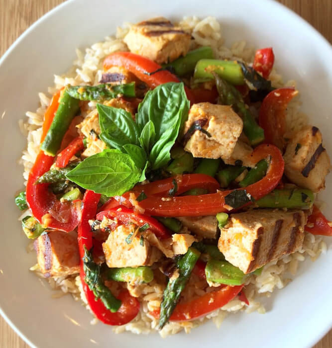 Red Thai Tofu with Brown Rice