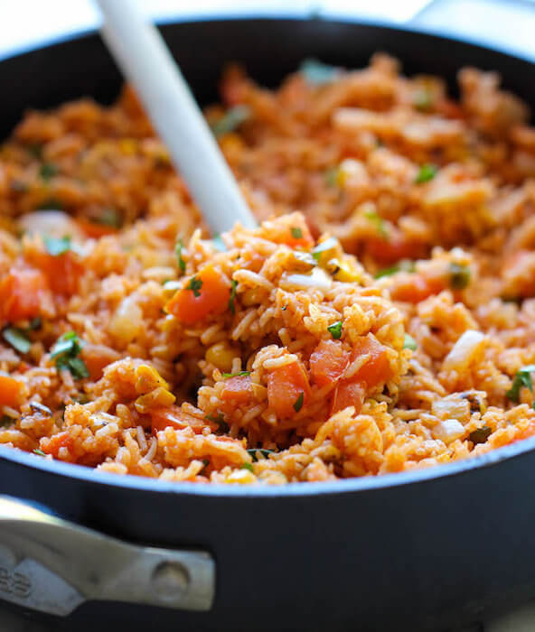 San Marzano Tomato Sauce Spicy Coconut Mung Bean with Basmati Rice