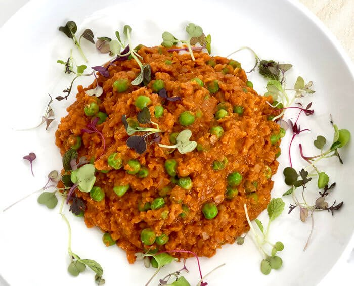 Turmeric Red Lentil with Roasted Sweet Potato