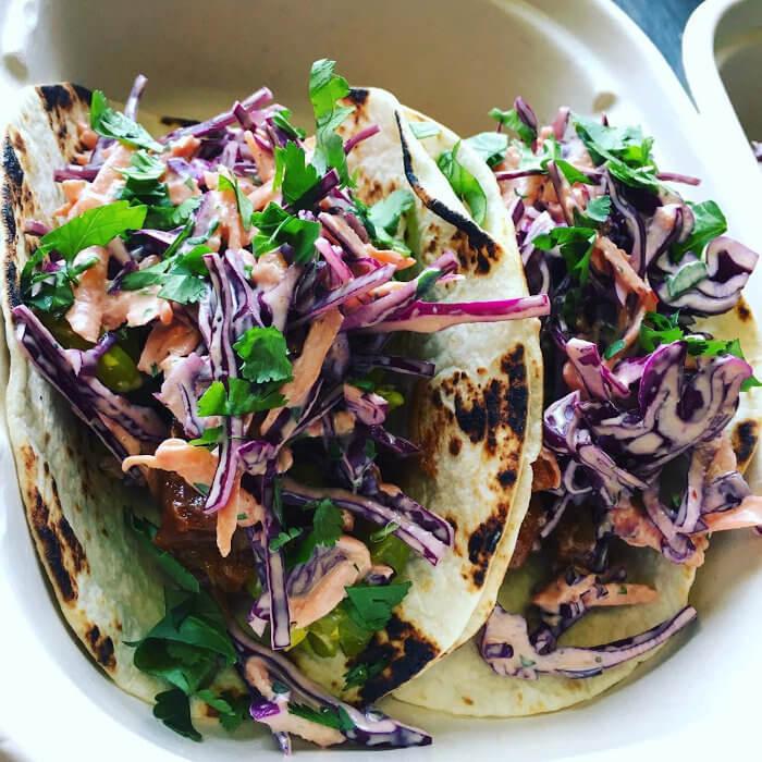 Jackfruit Tacos with Baja Slaw
